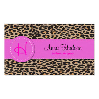 Animal Print, Spotted Leopard - Brown Black Business Card Templates