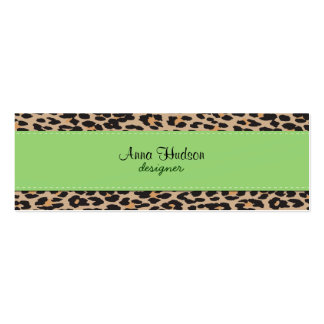Animal Print, Spotted Leopard - Brown Black Business Card Template
