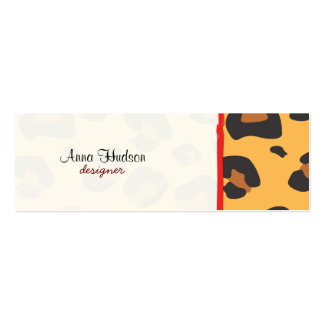 Animal Print, Spotted Leopard - Brown Black Business Card