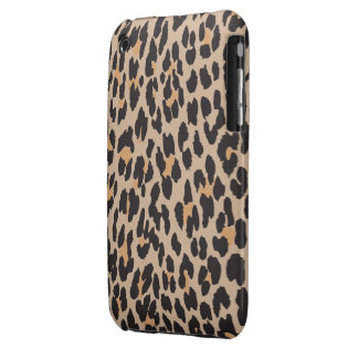 Animal Print, Spotted Leopard - Brown Black iPhone 3 Case-Mate Case