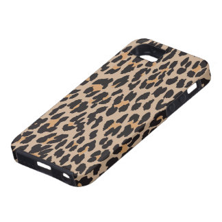 Animal Print, Spotted Leopard - Brown Black iPhone SE/5/5s Case