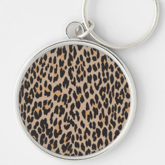 Animal Print, Spotted Leopard - Brown Black Keychain