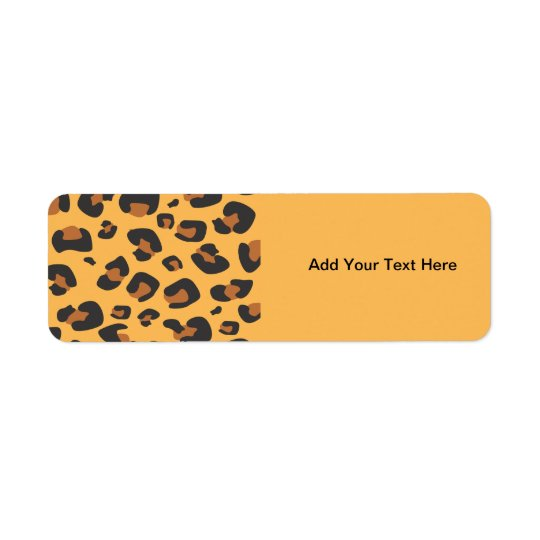 Animal Print, Spotted Leopard - Brown Black Label