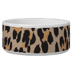 Animal Print, Spotted Leopard - Brown Black Dog Bowls