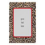 Animal Print, Spotted Leopard - Brown Black Stationery