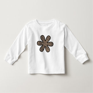 Animal Print, Spotted Leopard, Flower - Brown Toddler T-shirt