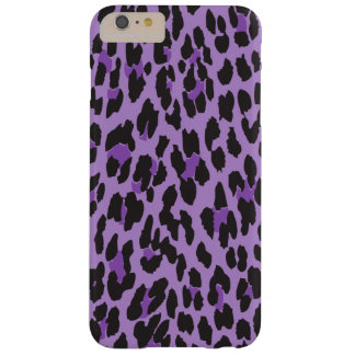 Animal Print, Spotted Leopard - Purple Black Barely There iPhone 6 Plus Case