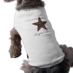Animal print Super Star  Doggy Tshirt Dog Tee Shirt