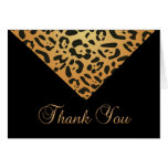 Animal Print Thank You Notes Card