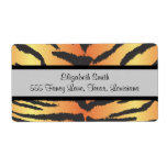 Animal Print, Tiger Stripes - Black Yellow Shipping Labels