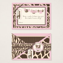Animal Print Tutu Clothesline Diaper Raffle Ticket
