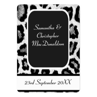 Animal print wedding favor thank you tag business card template
