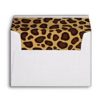 Animal Print Wild Leopard Spots Pattern 5X7 Envelope