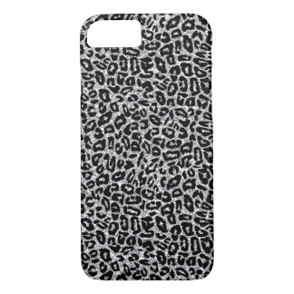 Animal Print with Silver Sparkles iPhone 7 Case