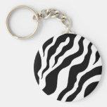 Animal Print Zebra  Keychain