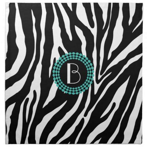 Safari Prints Cloth NapkinsOrange Zebra Print Pattern