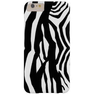 Animal Print, Zebra Pattern - Black White Barely There iPhone 6 Plus Case