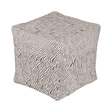 Animal Print - Zebra- Pouf