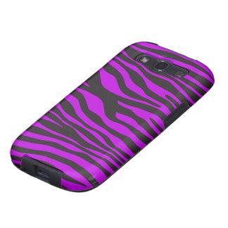 Animal Print, Zebra Stripes - Black Purple Samsung Galaxy S3 Covers