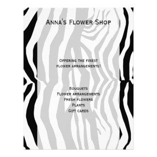 "Animal Print, Zebra Stripes - Black White 8.5"" X 11"" Flyer"