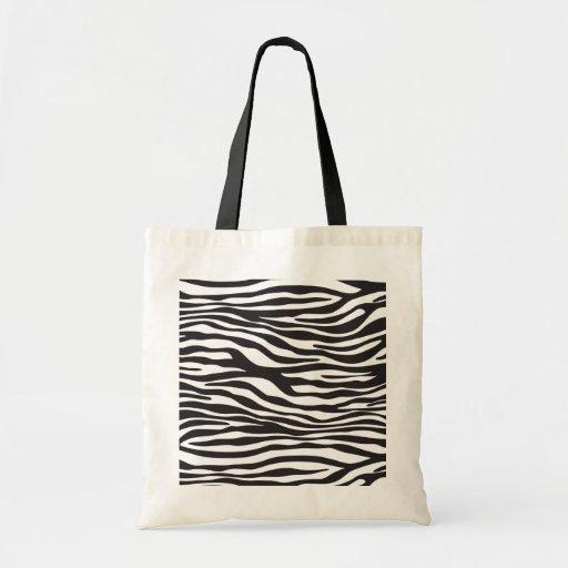 Animal Print, Zebra Stripes - Black White Bags