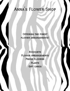 striped zebra flyers zazzle