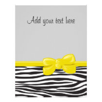Animal Print, Zebra Stripes - Black White Flyer