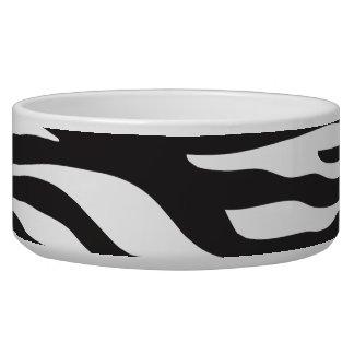 Animal Print, Zebra Stripes - Black White Dog Bowls