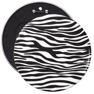 Animal Print, Zebra Stripes - Black White Pin