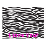 Animal Print, Zebra Stripes - Black White Postcards