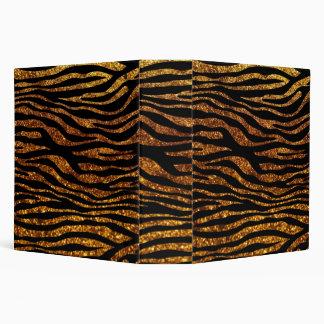 Animal Print, Zebra Stripes, Glitter - Black Gold Binder