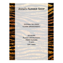 Animal Print, Zebra Stripes, Glitter - Black Gold Flyer