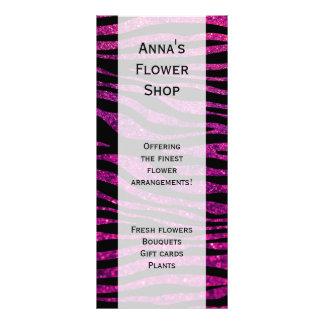 Animal Print, Zebra Stripes, Glitter - Black Pink Rack Card