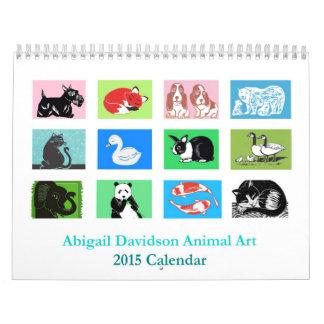 Animal Printmaking Artwork 2015 Calendar