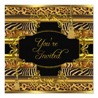 Animal Prints All Occasions Party Elegant Gold Card