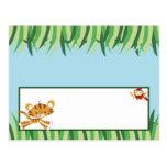 Animal programable de la selva de la selva tropica tarjeta postal