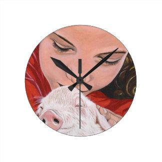 Animal Protector Round Clock