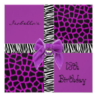 Animal púrpura salvaje del décimotercero cumpleaño