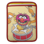 Animal que se estrella a través de los tambores funda para iPads