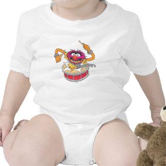 Animal que se estrella a través de los tambores trajes de bebé