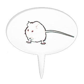 animal que se lava del esquema borroso del ratón decoración para tarta