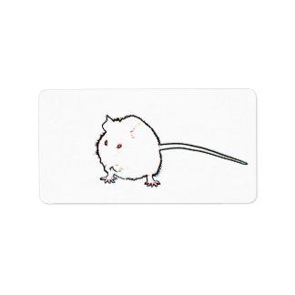 animal que se lava del esquema borroso del ratón etiquetas de dirección