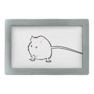 animal que se lava del esquema borroso del ratón hebillas cinturon rectangulares
