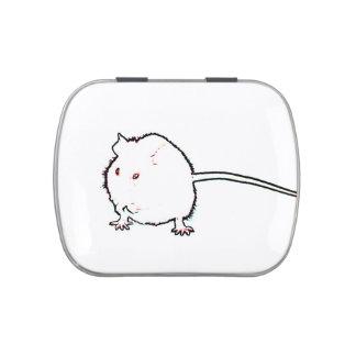 animal que se lava del esquema borroso del ratón latas de caramelos