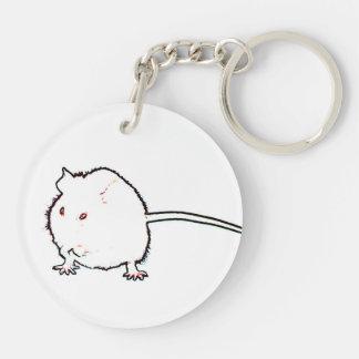 animal que se lava del esquema borroso del ratón llaveros