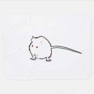 animal que se lava del esquema borroso del ratón mantas de bebé