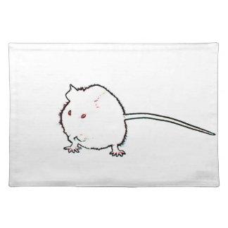 animal que se lava del esquema borroso del ratón mantel