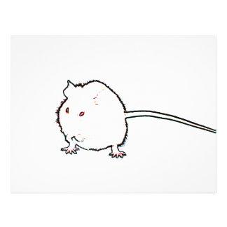animal que se lava del esquema borroso del ratón membrete personalizado