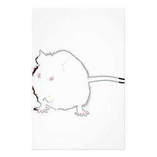 animal que se lava del esquema borroso del ratón papeleria personalizada