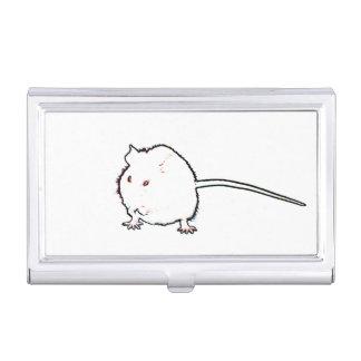 animal que se lava del esquema borroso del ratón cajas de tarjetas de negocios